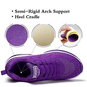 STQ Womens Lightweight Athletic Air Cushion Mesh Running Training Walking Sneakers 10 Purple