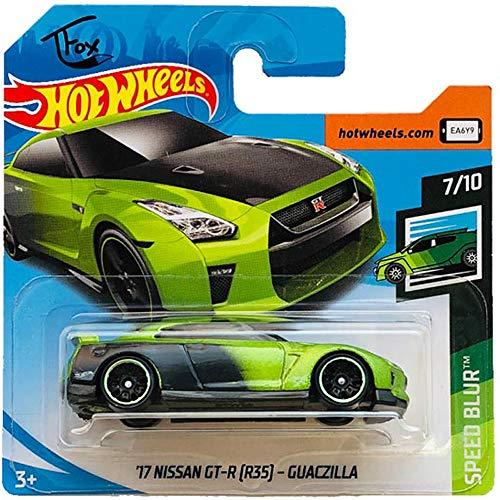 Hot Wheels \'17 Nissan GT-R (R35) Guaczilla Speed Blur 7/10 2019 (61/250) Short Card