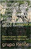 Normativa Comercial grupo Renfe (temario específico para pruebas presenciales de grupo Renfe): temario para operador comercial de ingreso N2