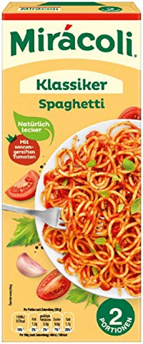 Miracoli Fertiggerichte Klassiker Spaghetti, 2 Portionen, 22 Packungen (22 x 265g)