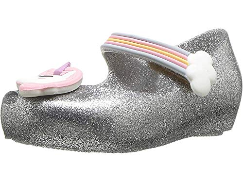 mini melissa Girl's Mini Ultragirl Unicorn (Toddler/Little Kid) Silver Glitz 9 Toddler M