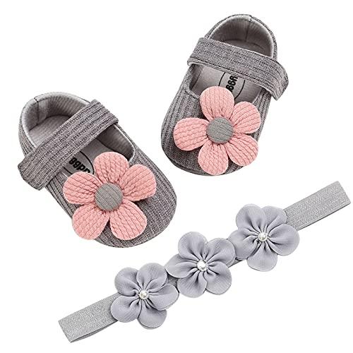 YWLINK Zapatos De Bebé Antideslizantes con Suela Blanda, Zapatos De Princesa con Lazo, Zapatos De Bebé De Primavera Y OtoñO De Lana De Flor De Sol Zapatos De Princesa para BebéS De 0 A 12 Meses