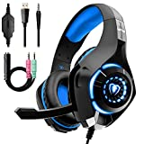 Beexcellent Gaming Headset for PS4 Xbox One, Over-Ear Gaming Headphones with Noise Reduction