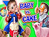 Baby Vs Cake! Shawn's 1st Birthday Party! Family Games And Activities With FUNnel Vision Plus Presents Haul