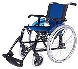 Forta fabricaciones - Silla de ruedas en aluminio FORTA LINE (Rueda en 600 y 300 mm) - Azul, 600 mm, 46 cm