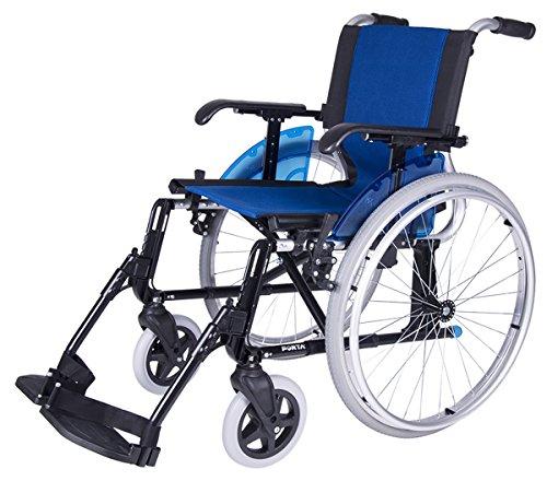 Forta fabricaciones - Silla de ruedas en aluminio FORTA LINE (Rueda en 600 y 300 mm) - Azul, 600 mm, 43 cm