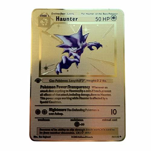 Pokemon Haunter 1a edizione Base Set Oro Metallo Card Collezionabile