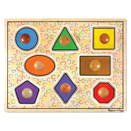 Melissa & Doug - 13390 - Puzzle à Gros Boutons - Formes Géométriques [Jouet]