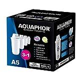 AQUAPHOR Lot de 3 Cartouches filtrantes A5 + 1 avec Technologie Aqualen, Anti-calcaire, Chlore et Autres Tissus dans l'eau de la Puissance Compatible avec Les modèles Provence, Prestige, Smile
