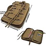 FIRECLUB Portable Tactical Wallet Handbag for Men Camping Hiking Bag Camouflage Bag Waist Bag Pack Polyester Card Purse (Sand)