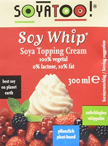 Soyatoo Soy Whip SOYA Topping Cream 300 ml