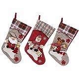 semen - Calcetín navideño para Chimenea, 3 Piezas, para decoración de árbol de Navidad