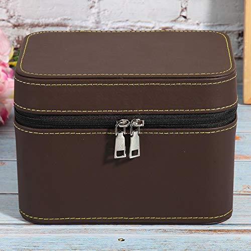 Uxsiya - Scatola portaoggetti per bracciali, ottima fattura, per il trucco, colore: Marrone