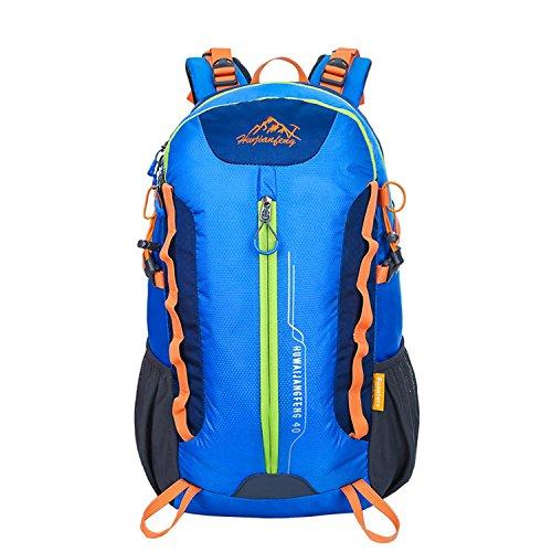 40L escalade sac à dos Outdoor Sports grande capacité portable Nylon Oxford sac à dos randonnée voyage alpinisme multifonction double épaule sac H32 x W50 x T22 cm , blue