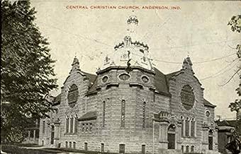 Central Christian Church Anderson, Indiana Original Vintage Postcard