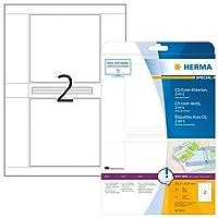 HERMA 4373 CDカバーラベルA4 121,5x117,5 mmホワイトペーパーマット50個。