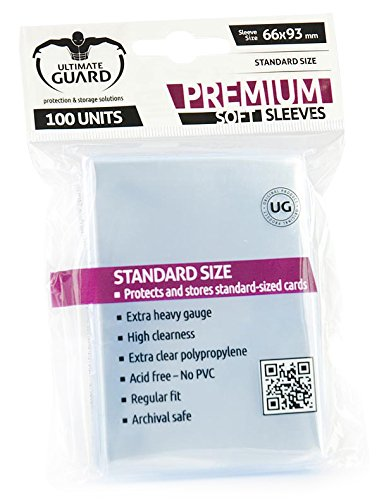 Ultimate Guard UGD010051 - Premium Soft Hüllen, Standardgröße, 100 Stück, transparent