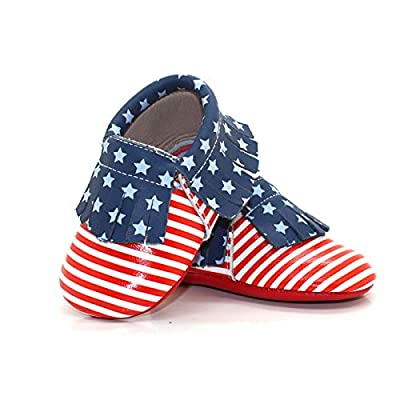 Unique Baby Patriotic Moccasins - Team USA 2016 Olympics American Flag