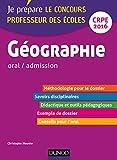 Géographie - CRPE 2016