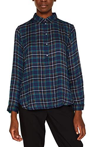 ESPRIT Damen 109Ee1F001 Bluse, Blau (Navy 400), (Herstellergröße: 38)