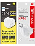 [10 Pack] [CARE ON] ::KF94 Certified:: 4-Layers Face Safety Mask for Adult + 1 Free [TRY] KF94 Mask [Individually Packaged][Made in KOREA]