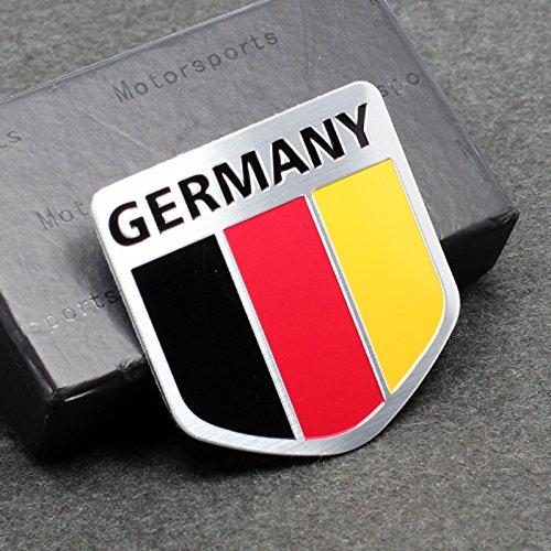 Car Styling Accessories AM01 Emblem Badge Decal Car Sticker Racing Motorsport Germany German Flag Deutschland Volkswagen VW Benz Audi BMW Beat Porsche Skoda OPEL 50X50 mm
