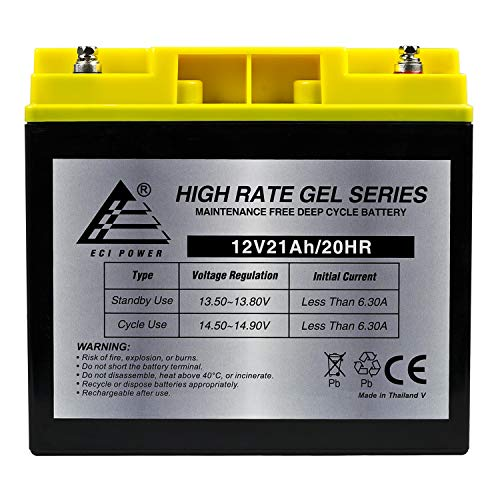 12V 21AH Deep Cycle Gel Battery for Schumacher DSR ProSeries PSJ-2212 Booster