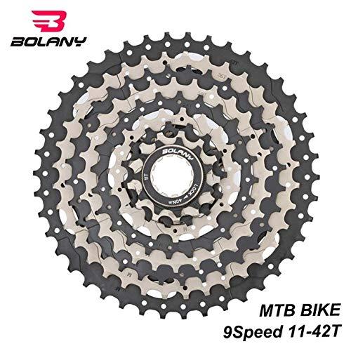 Kassette 9-gang-übersetzungsverhältnis 11-42 T Mtb Fahrrad Freilauf Kettenrad Silber Schwarz Mountainbike Zubehör 1 9S 11 to 42T