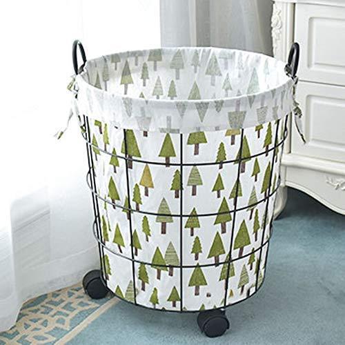 Planken Vuile wasmand Extra grote huishoudelijke vuile kleren Storage Basket, Retro smeedijzer vuile kleren Storage Basket Wasmand (Kleur: B, Maat: L), Afmeting: Groot, Kleur: B Flower Pot Rac XIUYU