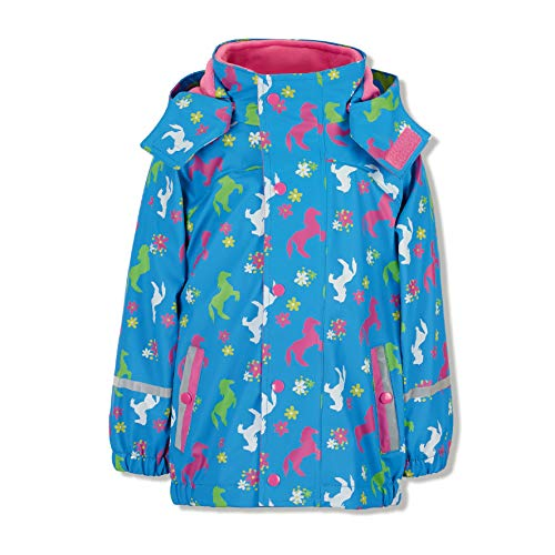 Sterntaler Mädchen Regenjacke mit Innenjacke, 3in1 Multifunktionsjacke, Alter: 9-12 Monate, Größe: 80, Azurblau