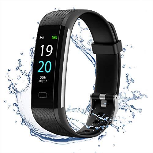 MEDGUARD Fitness tracker | Schrittzähler | Pulsoximeter | Pulsmesser | Herzfrequenzmessung | Schlafüberwachung | Integriertes GPS | IP68 | wasserbeständig | Shake Fotos | 0,96 Zoll TFT-LCD | Bluetooth