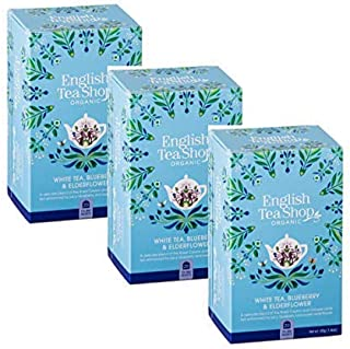 English Tea Shop Weißer Tee mit Heidelbeere und Holunder Made in Sri Lanka - 3 x 20 Teebeutel 120 Gramm