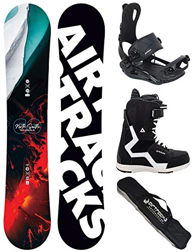 Airtracks Snowboard Set/Board North South Four Wide 157 + Snowboard Bindung Master + Boots Strong 44 + Sb Bag