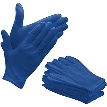 Bon Organik Reusable Blue Cotton Hand Gloves With Advanced Cooling Technology (Pack Of 10)