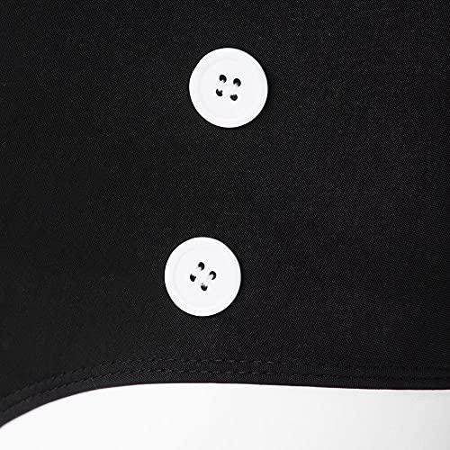 Booolavard® Vintage Push Up Bikini im Retro Rockabilly Style in schwarz/rot/weiß Größen S M L oder XL (S (34-36)) - 5