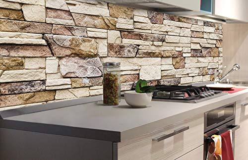 DIMEX LINE Küchenrückwand Folie selbstklebend STEINIGE Wand | Klebefolie - Dekofolie - Spritzschutz für Küche | Premium QUALITÄT - Made in EU | 180 cm x 60 cm