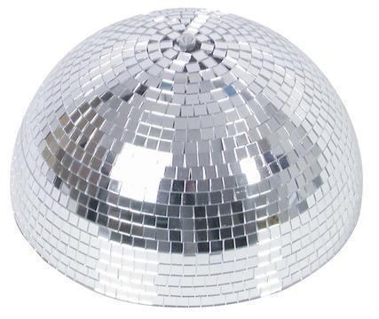 showking - Disco-Halbkugel Glanz mit Sicherheitsmotor, Ø 30 cm, Silber - halbe Discokugel mit Motor