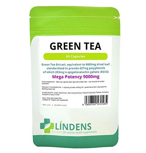Groene Thee Tabletten Dubbel Pakket 120 Capsules; Extract Eq 9000mg; 203 Mg Egcg, Dieet