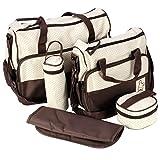 ADOO 5teiliges Bär Baby Wickeltaschen Casual Messenger Bag Umhängetasche Schultertasche...
