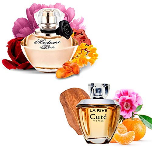 Kit 2 Perfumes Importados Cuté 100ml + Madame In Love 90ml