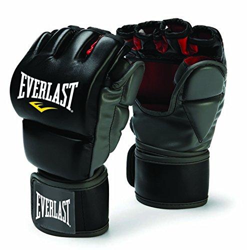 Everlast MMA Handschuhe Training - Grappling Kampfsport Handschuhe geschlossener Daumen schwarz L/XL
