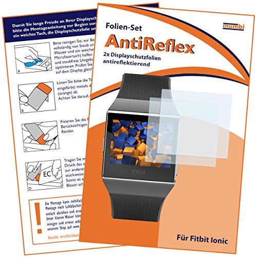 mumbi Schutzfolie kompatibel mit Fitbit Ionic Folie matt, Displayschutzfolie (2X)