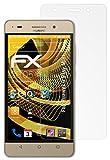 atFolix Panzerfolie kompatibel mit Huawei G Play Mini Schutzfolie, entspiegelnde & stoßdämpfende FX Folie (3X)