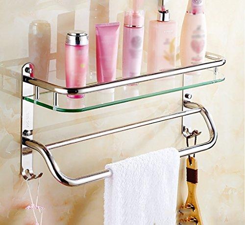 Bathroom Rack YSJ Salle de Bains Verre rectangulaire étagère Murale Verre trempé Extra épais, Section Lumineuse (Taille : 41 * 13.5 * 25cm)