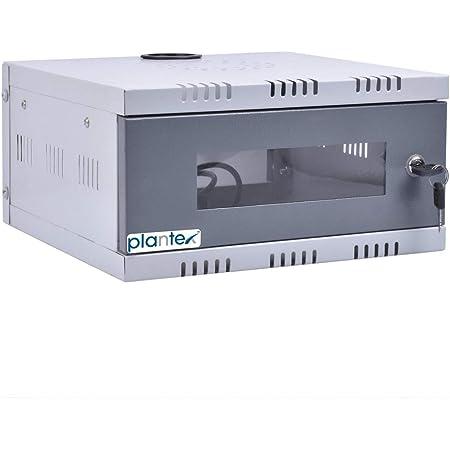 Plantex CCTV/DVR/NVR Cabinet Box/DVR Rack Wall Mount with Lock/Network Rack/Server Rack with Power Socket - 1U