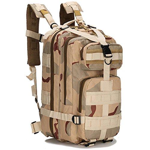 YOUAI Sac à dos militaire étanche en nylon 1000D 30 L pour sports de plein air camping randonnée trekking chasse pêche (8)