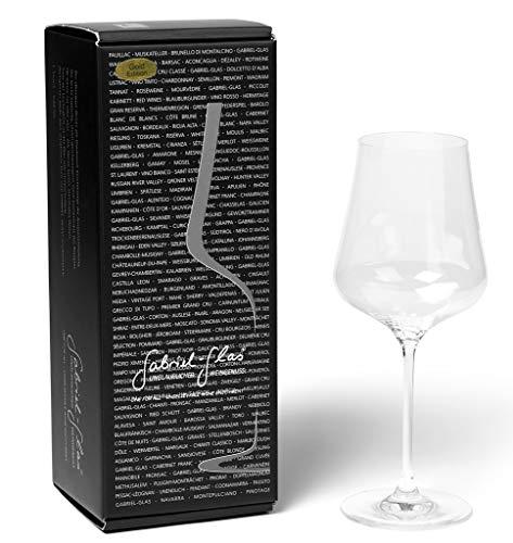 Gabriel glas - single set - mondgeblazen Oostenrijks kristallen wijnglas - Gold Edition