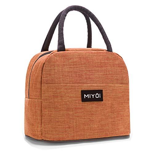 保冷バッグ お弁当 ランチバッグ 小型 環境保護 断熱 軽量 防水 洗える (オレンジ色)