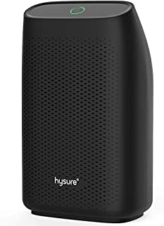 Hysure Dehumidifier,700ml Compact Deshumidificador 1200 Cubic Feet(215 sq ft) Quiet Room Dehumidifier, Portable Dehumidifier Bathroom Dehumidifier for Dorm Room, Baby Room, Home Black