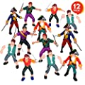 ArtCreativity Pirate Action Figures - Pack of 12 - Legendary Plastic Figures - Fun Pirate Party Favor and Prize - Excellent Gift for Kids Ages 5+